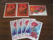 Праздничные открытки времен СССР 7 шт